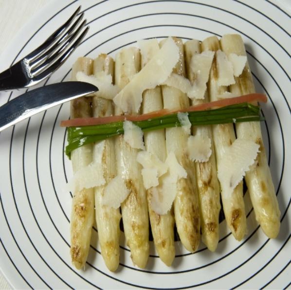 czon asperges blanches roties parmesan